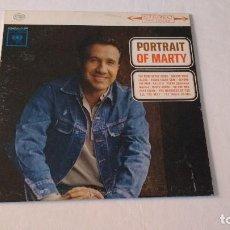Discos de vinilo: ALBUM DEL CANTANTE NORTEAMERICANA DE COUNTRY Y ROCKABILLY, MARTY ROBBINS. Lote 134007930
