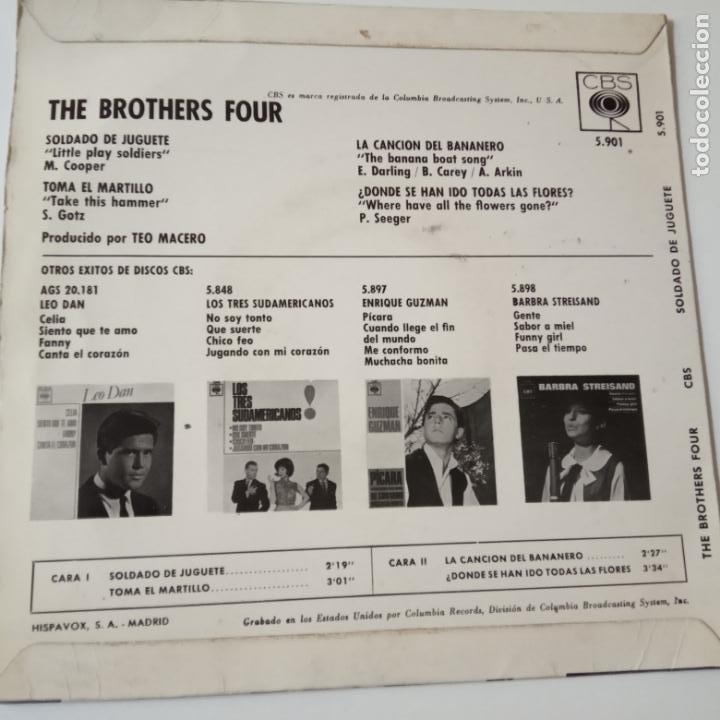 Discos de vinilo: THE BROTHERS FOUR- SOLDADO DE JUGUETE - SPAIN EP 1963 - EXC. ESTADO. - Foto 2 - 134008478