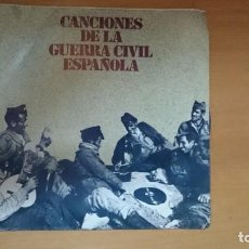 Discos de vinilo: DISCO VINILO CANCIONES GUERRA CIVIL. Lote 134011922