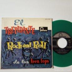Discos de vinilo: EL TREPIDANTE ROCK AND ROLL DE LOS TEEN TOP- EP 1960+ LENGÜETA- VINILO COLOR VERDE MUY RARO.. Lote 134016502