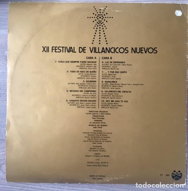 Discos de vinilo: FESTIVAL DE VILLANCICOS NUEVOS - PAMPLONA, 1978 - Foto 2 - 134016962