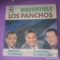 Discos de vinilo: LOS PANCHOS - IRRESISTIBLE + 3. Lote 134021986