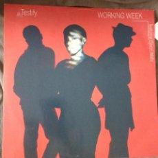 Discos de vinilo: WORKING WEEK – TESTIFY. Lote 134028582
