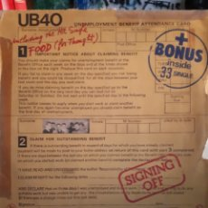 Discos de vinilo: UB 40 SIGNIN OFF GRADUATS RÈCORDS 574 007. Lote 134033477