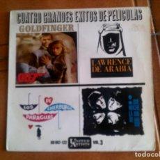 Discos de vinilo: DISCO CUATRO GRANDES EXITOS DE PELICULAS. Lote 134034910