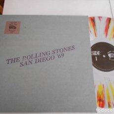Discos de vinilo: THE ROLLING STONES-LP SAN DIEGO '69-MULTICOLOR-NUEVO. Lote 134035106