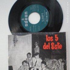 Discos de vinilo: LOS 5 DEL ESTE - SLOOPY +1 - SINGLE ODEON EMI 1966 // GARAGE BEAT MOD . Lote 134040994