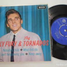 Discos de vinilo: BILLY FURY & THE TORNADOS - NOBODY'S CHILD +3 - EP UK DECCA 1963. Lote 134041554