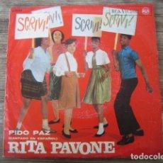 Discos de vinilo: RITA PAVONE - SCRIVI! ****** RARO SINGLE ESPAÑOL 1964 CARA B CANTADA EN CASTELLANO. Lote 134041906