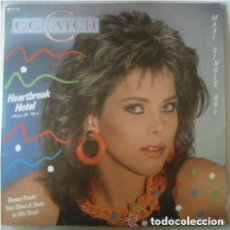 Discos de vinilo: C.C. CATCH- HEARTBREAK HOTEL - MAXI-SINGLE SPAIN 1986. Lote 134044766