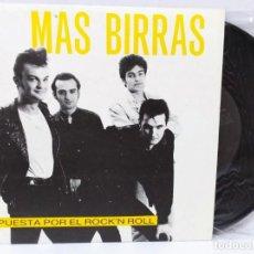 Discos de vinilo: VINILO 7 MAS BIRRAS APUESTA POR EL ROCK AND ROLL VERSIONO HEROES DEL SILENCIO BUNBURY. Lote 135582521