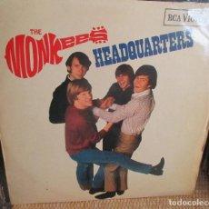 Discos de vinilo: THE MONKEES - HEADQUARTERS - LP 1967 - EDICION INGLESA RCA VICTOR RD-7876. Lote 134050954