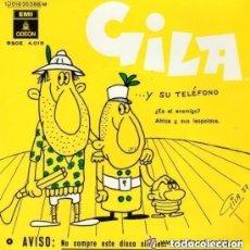 Discos de vinilo: GILA Y SU TELEFONO - ¿ES EL ENEMIGO? - AFRICA Y SUS LEOPOLDOS - SINGLE EMI ODEON 1958 REEDICION. Lote 134068498