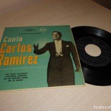 Discos de vinilo: CANTA CARLOS RAMIREZ --TUS OJOS CULPABLE - RCA EP DE 4 CANCIONES -MADRID-. Lote 134070958