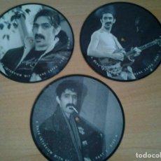 Discos de vinilo: FRANK ZAPPA -A RARE INTERVIEW- PACK 3 PICTURE DISC BAKPAK 1003 ED. LIMITADA ED. INGLESA. Lote 262900595