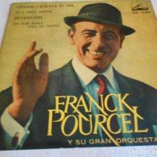 Discos de vinilo: FRANCK POURCEL Y SU GRAN ORQUESTA, EP, CUANDO CALIENTA EL SOL + 3, AÑO 1962. Lote 134075738