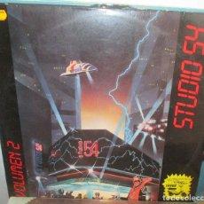 Discos de vinilo: STUDIO 54 VOLUMEN 2 - LP BLANCO Y NEGRO - ITALO-DISCO . Lote 134076074