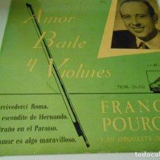 Discos de vinilo: FRANCK POURCEL Y SU ORQUESTA DE CUERDA, EP, ARRIVEDERCI ROMA + 3, AÑO 1958. Lote 134076222