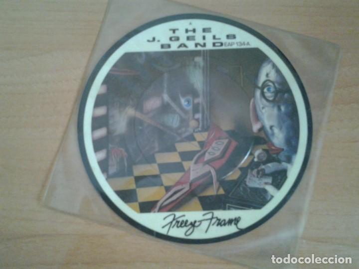 THE J. GEILS BAND SINGLE PICTURE DISC -FREEZE FRAME- EMI AMERICA 1981 EAP 134-B EN MUY BUENAS CONDI (Música - Discos - Singles Vinilo - Jazz, Jazz-Rock, Blues y R&B)