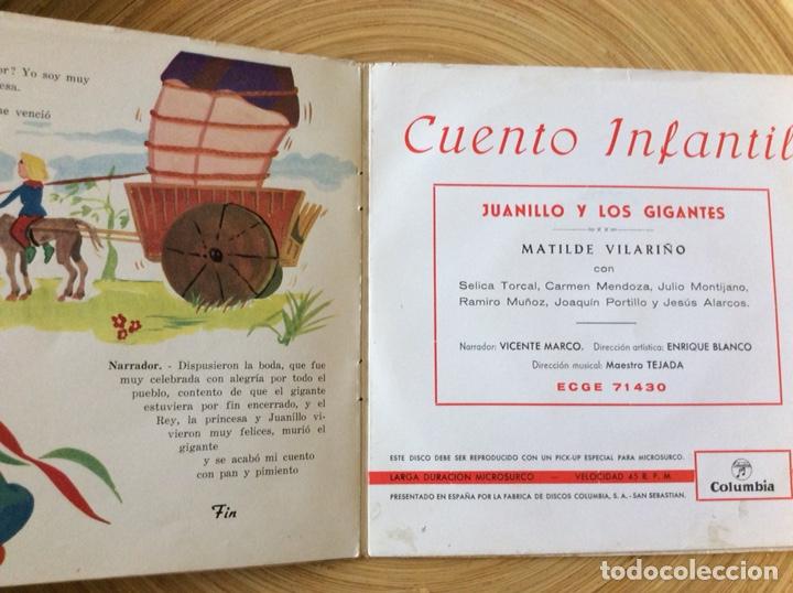 Discos de vinilo: CUENTO INFANTIL JUANILLO Y LOS GIGANTES DISCO+CUENTO AÑO1960 - Foto 3 - 134078906
