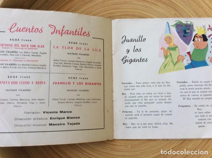 Discos de vinilo: CUENTO INFANTIL JUANILLO Y LOS GIGANTES DISCO+CUENTO AÑO1960 - Foto 4 - 134078906