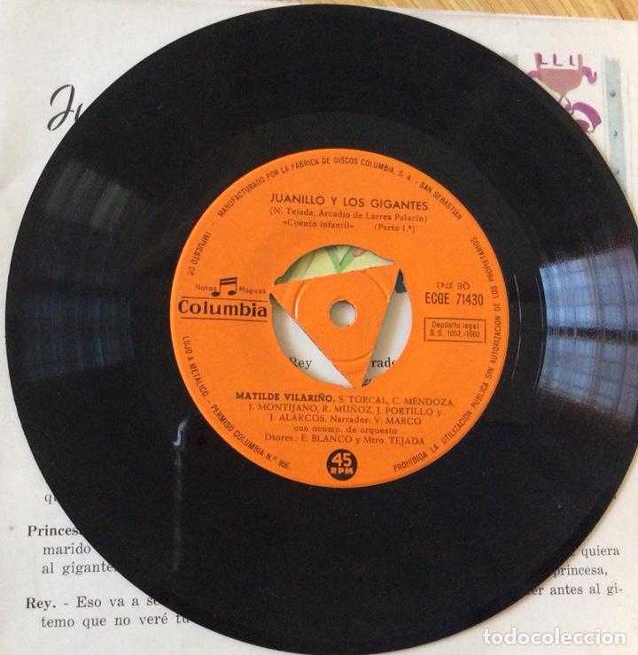 Discos de vinilo: CUENTO INFANTIL JUANILLO Y LOS GIGANTES DISCO+CUENTO AÑO1960 - Foto 5 - 134078906