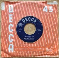 Discos de vinilo: MARIANNE FAITHFULL TOMORROW CALLING EDIC INGLESA DECCA 1966. Lote 134094914