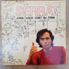 Discos de vinilo: LP JOAN MANUEL SERRAT CADA LOCO CON SU TEMA. Lote 134100490