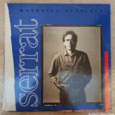 Discos de vinilo: LP JOAN MANUEL SERRAT MATERIAL SENSIBLE. Lote 134103753