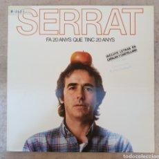 Discos de vinilo: LP SERRAT FA 20 ANYS QUE TINC 20 ANYS. Lote 134105859