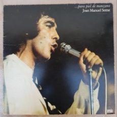 Discos de vinilo: LP JOAN MANUEL SERRAT PARA PIEL DE MANZANA. Lote 134106286