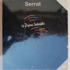 Discos de vinilo: DOBLE LPS SERRAT 24 PÁGINAS INOLVIDABLES. Lote 134107961