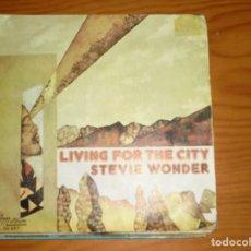 Discos de vinilo: STEVIE WONDER. LIVING FOR THE CITY / VISIONS. TAMLA MOTOWN, 1974. IMPECABLE. Lote 134113706