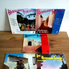 Discos de vinilo: LOTE EXCEPCIONAL. HERMANOS TORONJO, 5 VOL. HISPAVOX 1960 (3) HISPAVOX 1961 (2) VER DESCRIPCIÓN.. Lote 134119374