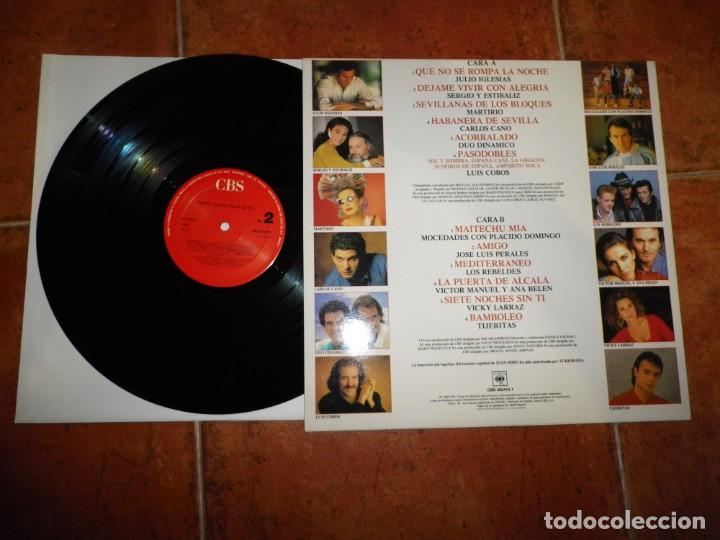 Discos de vinilo: ESPAÑA Musica bajo el sol LP VINILO 1988 JOAN MIRO DUO DINAMICO MOCEDADES VICKY LARRAZ LOS REBELDES - Foto 2 - 134119530