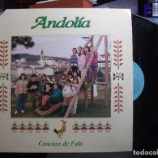 Discos de vinilo: LP ANDOLÍA CANCIOIS DE FALA ASTURIAS BABLE LETRAS CONTRAPORTADA FONOASTUR. Lote 134122574