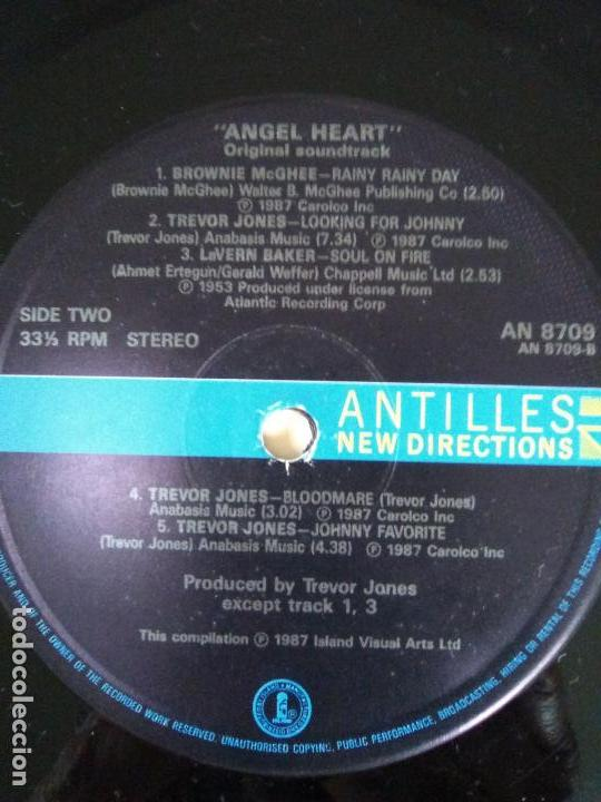 Discos de vinilo: ANGEL HEART EL CORAZON DEL ANGEL ( 1987 ISLAND ANTILLES UK ) TREVOR JONES ALAN PARKER - Foto 4 - 139778458