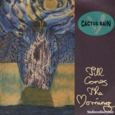 Discos de vinilo: CACTUS RAIN - TILL COMES THE MORNING / TRE CANI / SINGLE TEN RECORDS DE 1990 RF-3507 , BUEN ESTADO. Lote 134128414