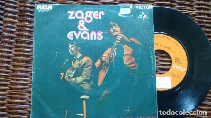 SINGLE (VINILO) -PROMOCION-DE ZAGER & EVANS AÑOS 60 (Música - Discos - Singles Vinilo - Pop - Rock - Extranjero de los 70)