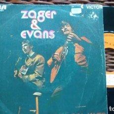 Discos de vinilo: SINGLE (VINILO) -PROMOCION-DE ZAGER & EVANS AÑOS 60. Lote 134140594