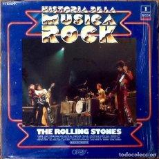 Discos de vinilo: THE ROLLING STONES : HISTORIA DE LA MUSICA ROCK [ESP 1981] LP/COMP. Lote 134161510
