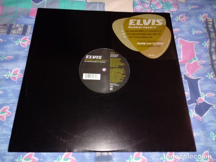 ELVIS PRESLEY RUBBERNECKIN REMIXES MAXI SINGLE VINILO PROMO 2003 EUROPA CONTIENE 3 TEMAS (Música - Discos de Vinilo - Maxi Singles - Pop - Rock Internacional de los 90 a la actualidad)