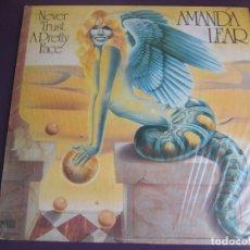 Discos de vinilo: AMANDA LEAR LP ARIOLA 1979 NEVER TRUST A PRETTY FACE - PRECINTADO - DISCO 70'S - GAY TRANS - WARHOL. Lote 134163898