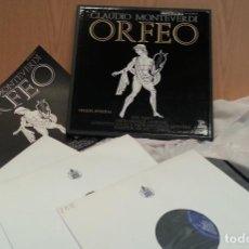 Discos de vinilo: DISCOS LPS MÚSICA CLÁSICA. MONTEVERDI. COLECCIÓN DE 3 DISCOS EN PERFECTO ESTADO.. Lote 134165578