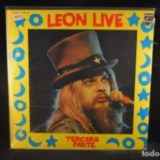 Discos de vinilo: LEON RUSSELL - LEON LIVE - TERCERA PARTE - LP. Lote 134171162