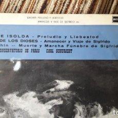 Discos de vinilo: WAGNER - TRISTÁN E ISOLDA, OCASO DE LOS DIOSES. CARL SCHURICHT (DECCA 1968) ACL 117. 33 RPM. Lote 134171254