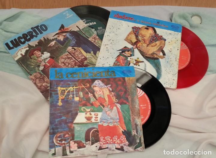 DISCOS SINGLES DE CUENTOS INFANTILES. COLECCIÓN DE 3 DISCOS. AÑOS 60-70 (Música - Discos - Singles Vinilo - Música Infantil)