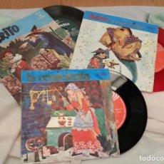 Discos de vinilo: DISCOS SINGLES DE CUENTOS INFANTILES. COLECCIÓN DE 3 DISCOS. AÑOS 60-70. Lote 134171490