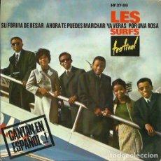 Discos de vinil: LES SURFS. EP. SELLO HISPAVOX /DISQUES FESTIVAL. EDITADO EN ESPAÑA. AÑO 1964. Lote 134174378