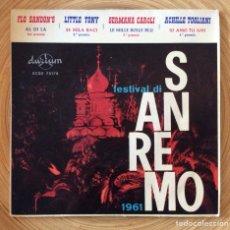 Discos de vinilo: FESTIVAL DE SAN REMO 1961 FLO SANDONS, LITTLE TONY GERMANA CAROLI A. TOGLIANI. Lote 134180022